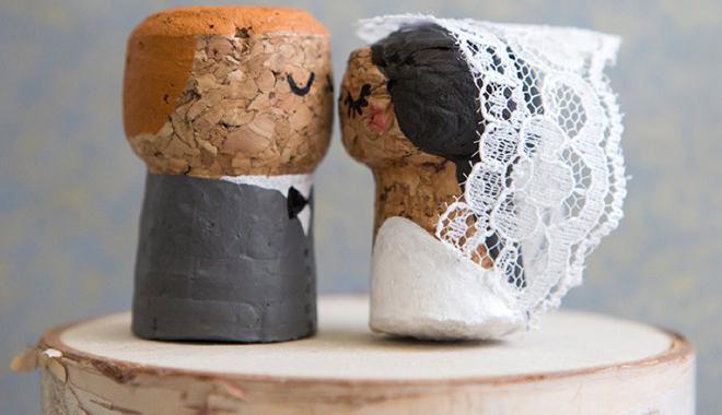 DIY: Noivinhos na rolha de espumante