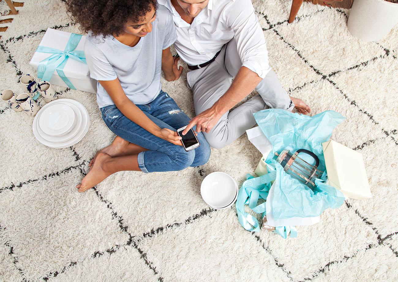 Lista de casamento para casais que trabalham em casa