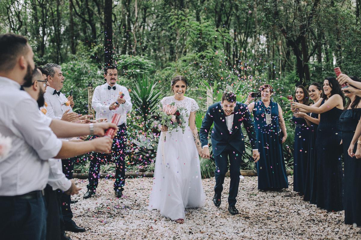 Miniwedding com cardápio vegano: Letícia e Rafael