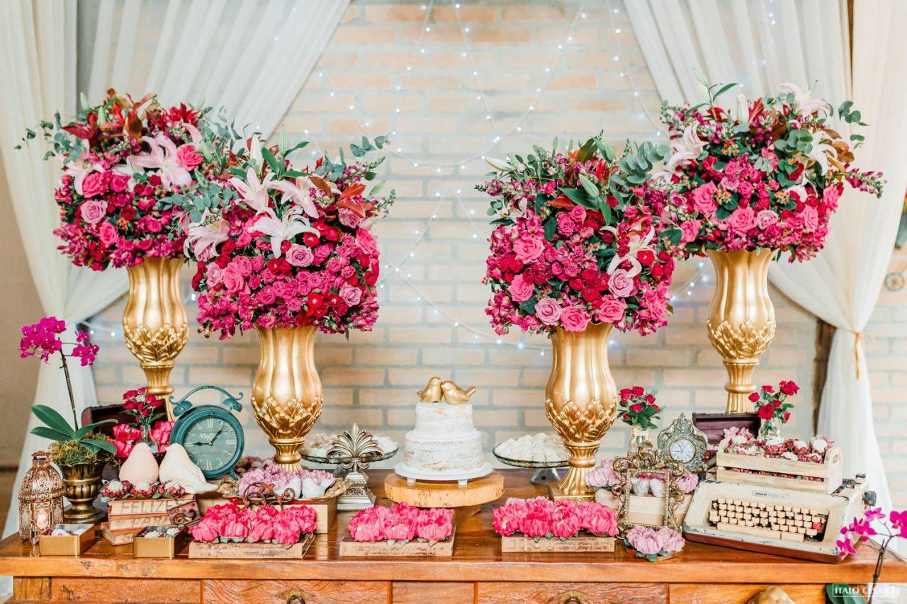 miniwedding rústico rosa