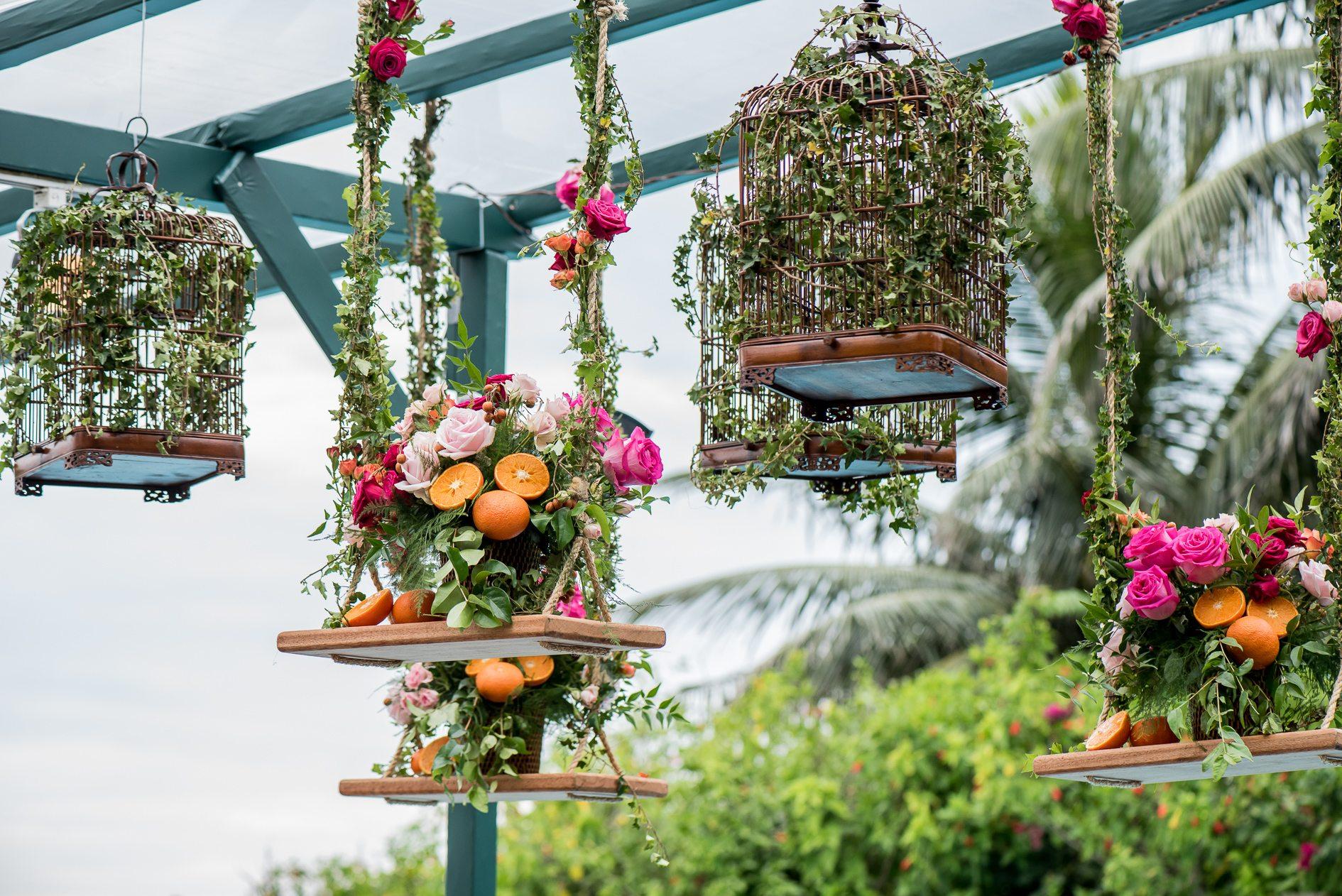 Frutas na decoração e detalhes do casamento