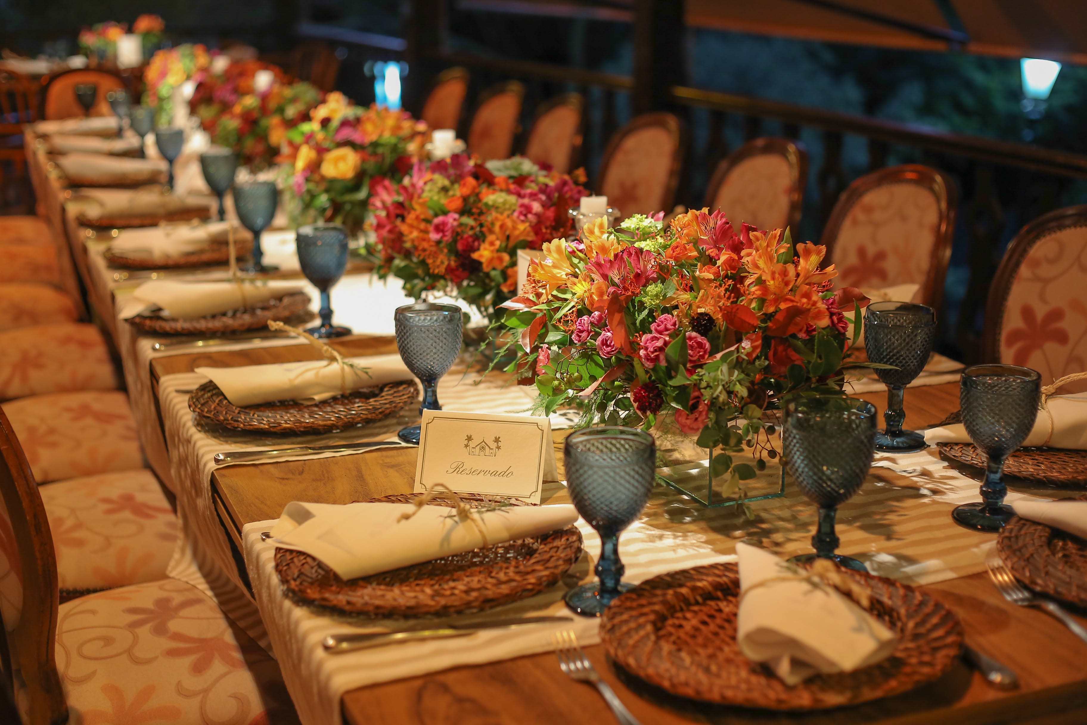 Ideias de centros de mesa para casamento