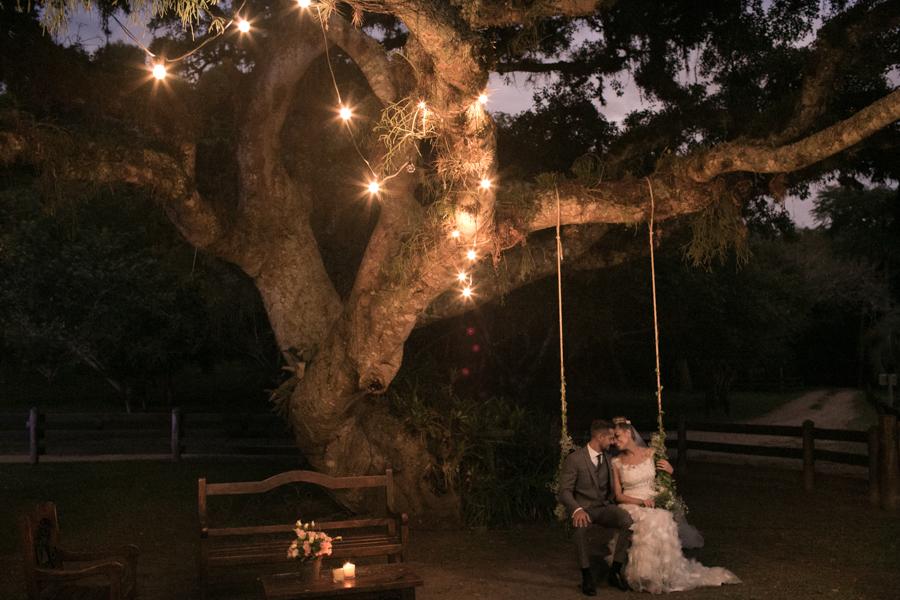 Balanços na decoração do casamento