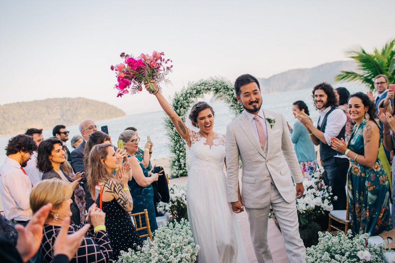 Casamento na praia de Tabatinga: Ana Maria e Jason