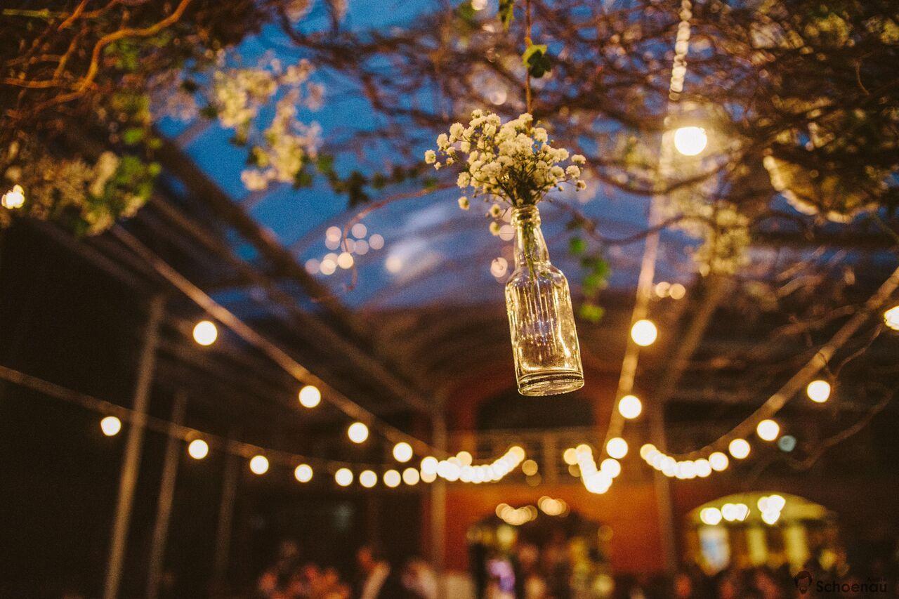 Decoração de casamento com a flor mosquitinho