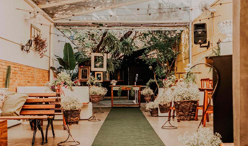 Espaço de casamento intimista na Mooca