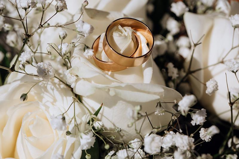 Decoração de casamento com flor mosquitinho