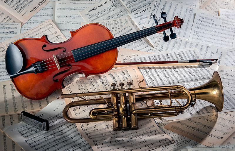 Instrumentos musicais para casamento