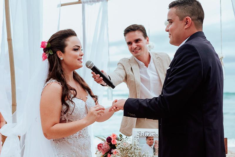 Noivos casamento civil