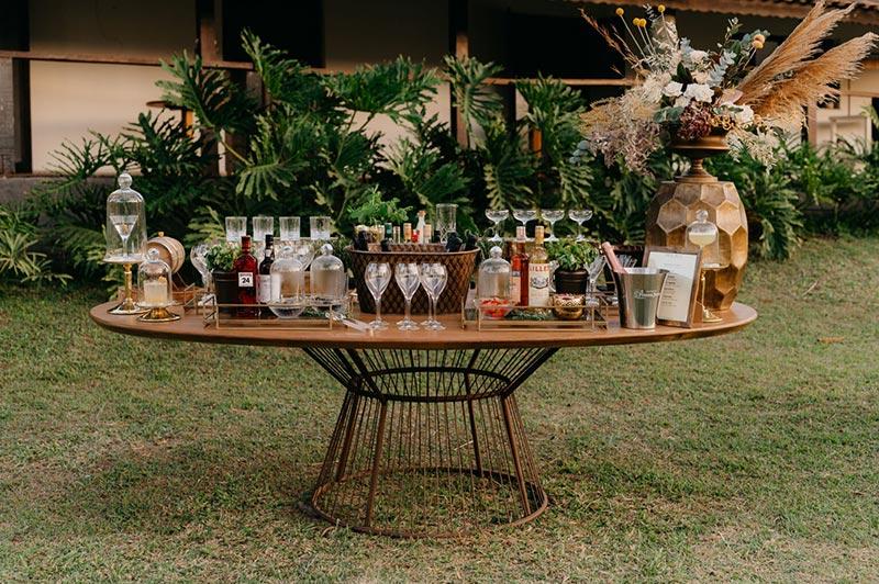 Bar para casamento no campo