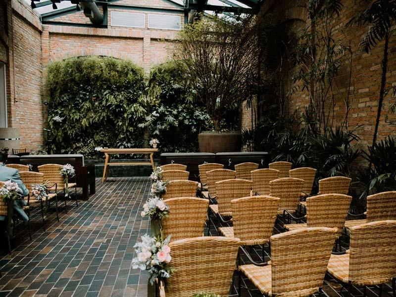 Espaços de casamento para noivado