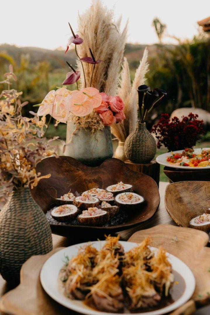 Gastronomia casamento moderno