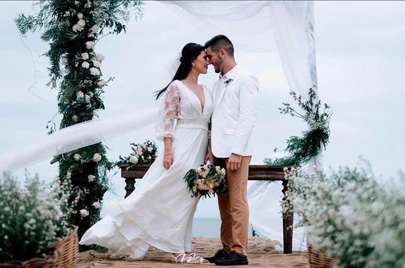 Celebração no espaço que casaram.