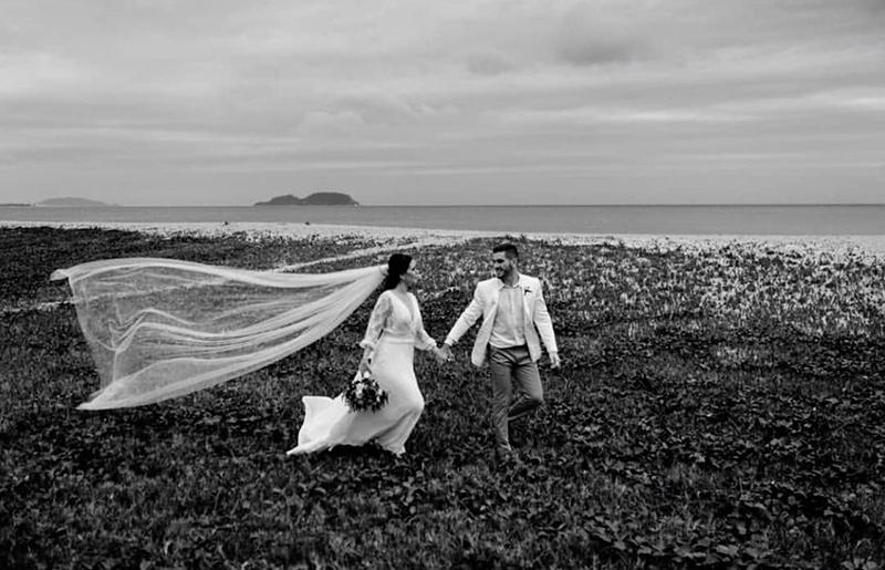 Viagem de bodas de casamento.